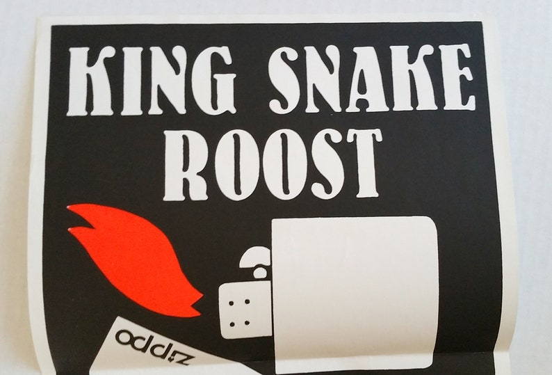 KING SNAKE ROOST Poster 1987 Zippo Lighter Australian Noise Rock Rare Record Company Promo Punk Birthday Party Nick Cave Sonic Youth