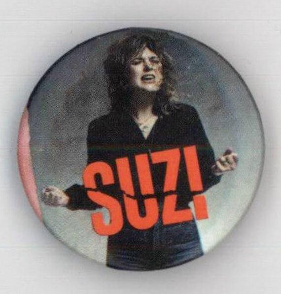 Suzi Quatro Button Pinback Rare 1 Uk 1979 Glam Rock Etsy