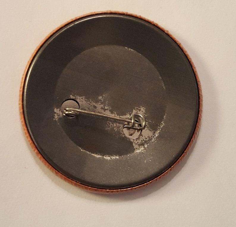 LINDSEY BUCKINGHAM Go Insane PROMO Pinback Vintage 1984 Large  2.25 Badge Button Fleetwood Mac Stevie Nicks Elektra Records