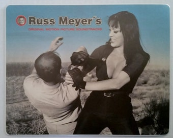 RUSS MEYER Movies Promo Mousepads QDK Media *Hot* Kitsch Busty Cheesecake B-Movie Tura Satana Raven Midnight Movie Cult Rare Collectable
