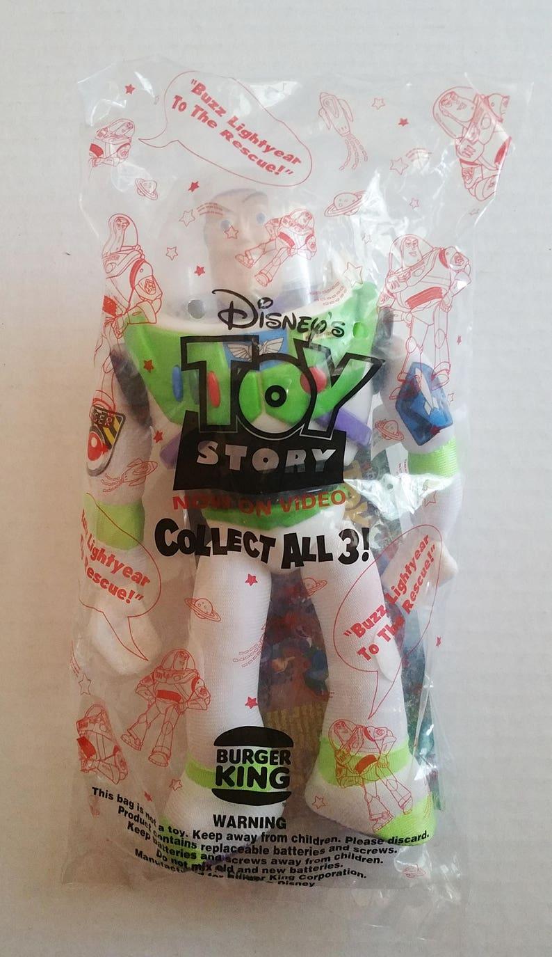 TOY STORY Talking Buzz Lightyear 10 NEW Bagged Burger King Original Memorabilia Collector Toy Action Figure Tim Allen Restaurant Premium