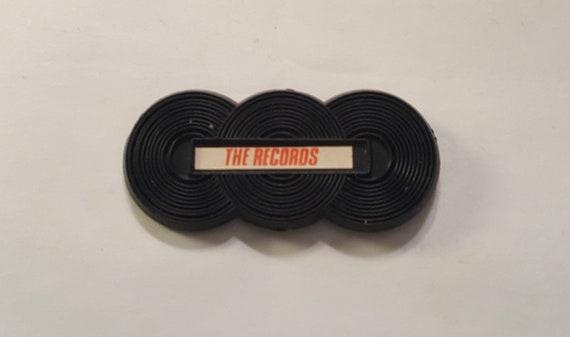Vintage Record Store 1980 PINBACK RECORD PLUS Believe In Us Button Badge Rare 1 California Chain Store Record Retail Memorabilia