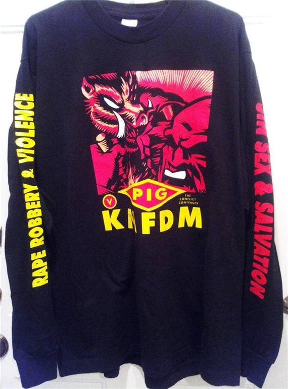 Kmfdm Vs Pig Sin Sex Salvation Shirt Xl Wax Trax Industrial Etsy