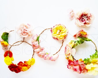 Download Free Styled Stock Photography / Product Styling / Web Design Background / Mock-Up / Marketing Blog Photo / High Res File / Flower Crown Spring PSD Template