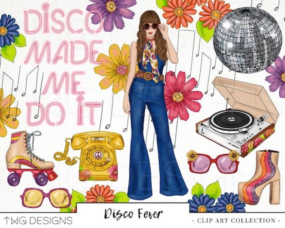 Vector Clipart - Disco fever. Vector Illustration gg70396571 - GoGraph