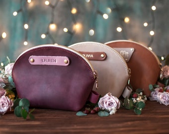 83f13d5f0a88 Leather makeup bag