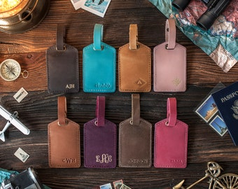 Custom gift Luggage tags personalized, Leather luggage tags, luggage tag favor, luggage tags wedding, groomsmen gift, wedding favors