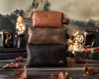 Leather dopp kit, Personalized groomsmen gift, leather dopp kit, mens leather toiletry bag, mens dopp kit, mens toiletry bag