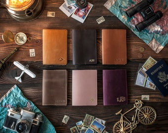 Leather passport cover personalized, Leather Passport holder, passport case, passport wallet, travel gift, wanderlust gift, traveler's gift