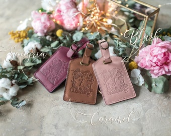 Leather Luggage tags personalized, luggage tags leather personalized luggage tags, bridesmaid gift, initial luggage tag, custom luggage tag
