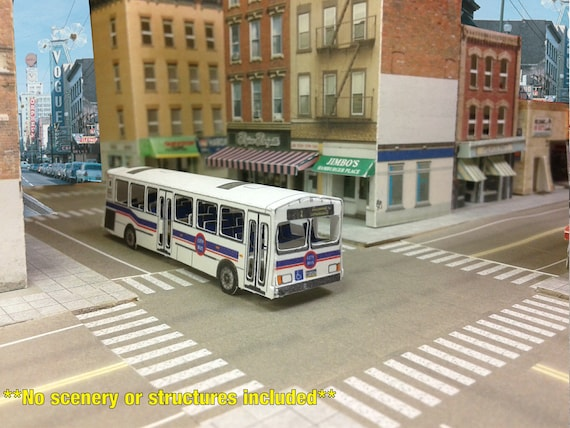 Miniature Paper Model City Bus Paper Craft Kit For Model Etsy