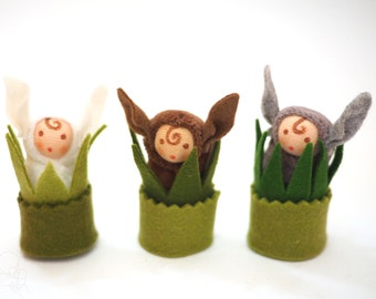 Baby hare dolls, alternative Easter, felted hares, miniature hares, waldorf inspired, natural toy