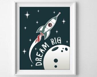 Dream big digitak print