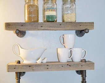 Reclaimed Barn Wood From 1800u0027s Bathroom Shelves