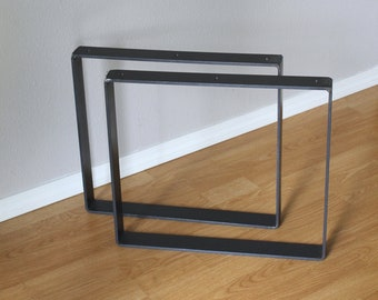 """Coffee Table Legs, 18"""" x 16"""", Set of 2 Available in Black, Brass or Steel"""