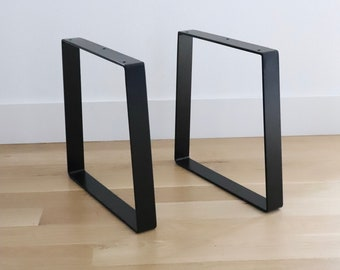 Trapezoid Table Legs, Set of 2 Available in Black, Brass or Steel