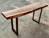 Metal Bench Legs, Set of 2, More Finishes Available, Black, Brass, and Steel