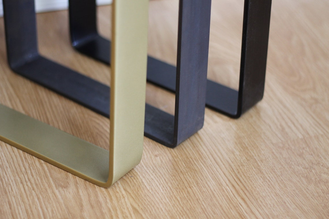 Console Table Legs, 2 Pack, Metal Sofa Table Legs, Steel, Brass or Black