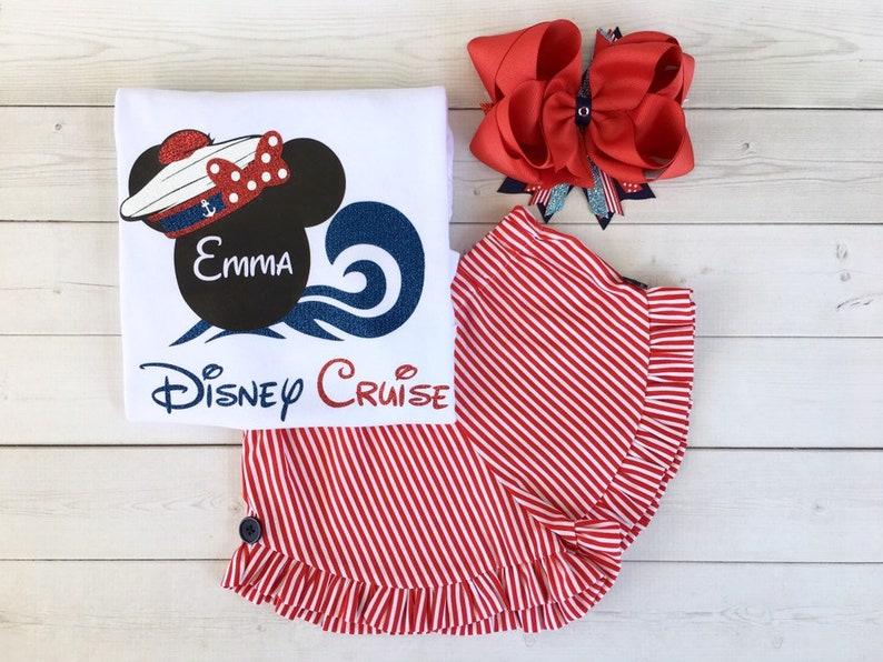 Disney Outfit for Girls, Custom Disney Cruise Outfit, Disney Cruise Shirt,  Nautical Outfit, Girls Cruise Outfit, Cruise Outfit for Toddlers