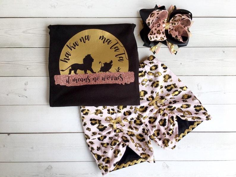 Safari Disney Outfit for Girls, Girls Disney Outfit, Girls Disney Shirt,  Lion King Shirt for Girls, Hakuna Matata Shirt, Shorts, Toddlers