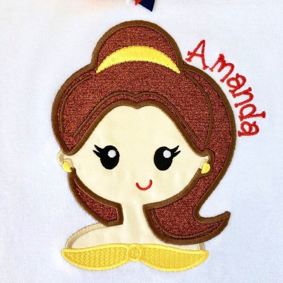 Disney Outfit for Girls, Girls Disney Outfit, Girls Disney Shirt, Beauty  and the Beast Outfit, Embroidered, Belle Shirt, Belle Outfit