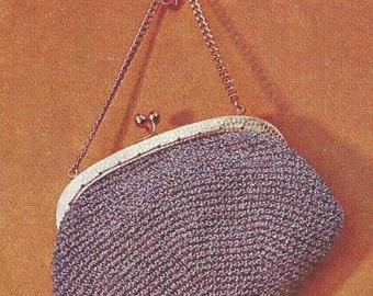 Vintage crochet evening purse pattern
