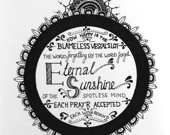 Eternal Sunshine of the spotless mind Illustration A4 print