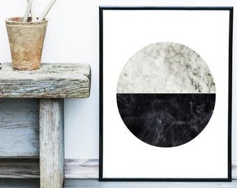 Minimalist Art, Abstract Art Print, Scandinavian Art, Circle Print,  Art Print, Giclee print, Wall Art, Poster