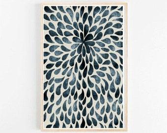 Blue Abstract Print, Abstract Wall Art, Scandinavian Design, Home decor, Modern wall Art, Large Wall Print, Giclee Print, Wall Decor