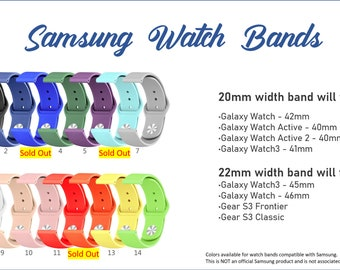 Create your own band / Engraved / Samsung 20mm 22mm / Personalized