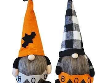 Halloween Gnome Plush / Halloween Accent / Rustic / Hand made Halloween Plush