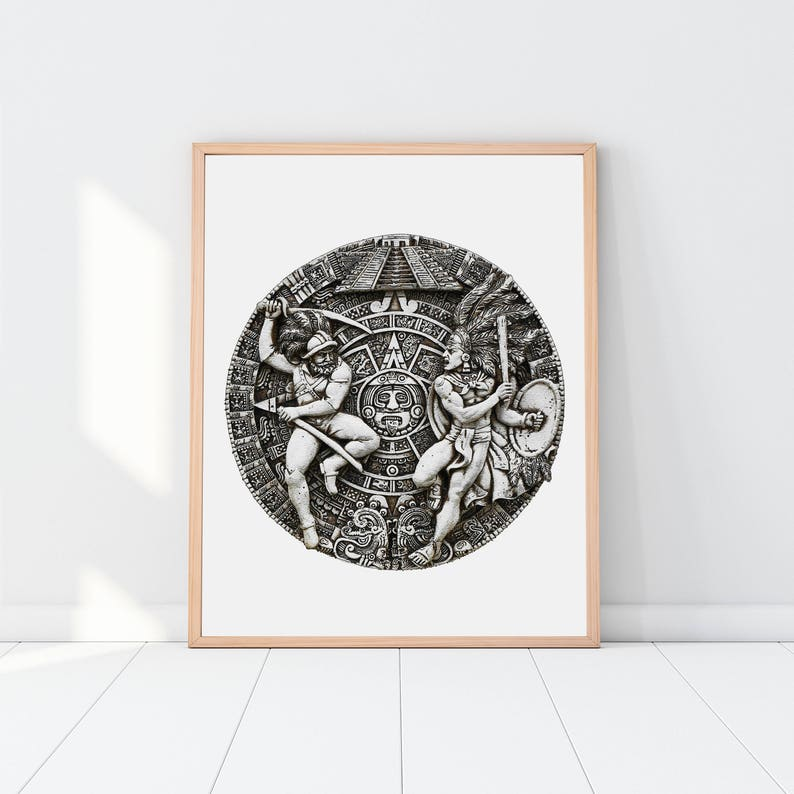 Mayan Coin Print, Antique Art, Digital File, Poster Print, History Teacher,  Ancient Artifact, Warriors, Coins, Greek, Rome, Silver, Unique