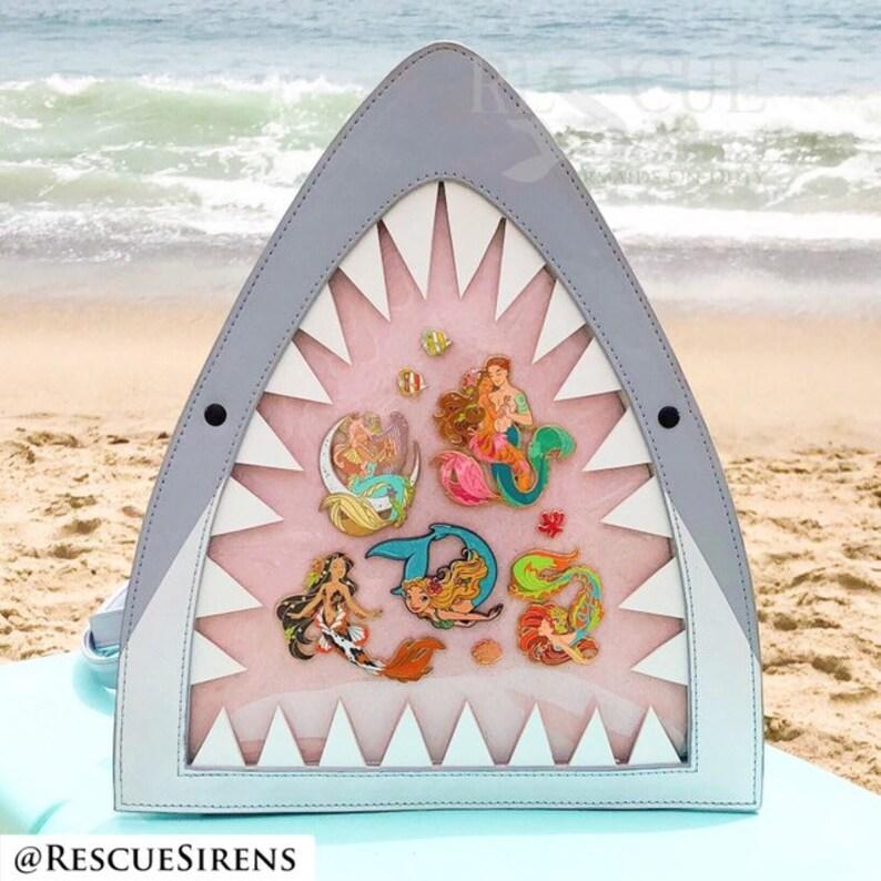 Kawaii Shark Ita Bag/Backpack  show your enamel pins in the image 0