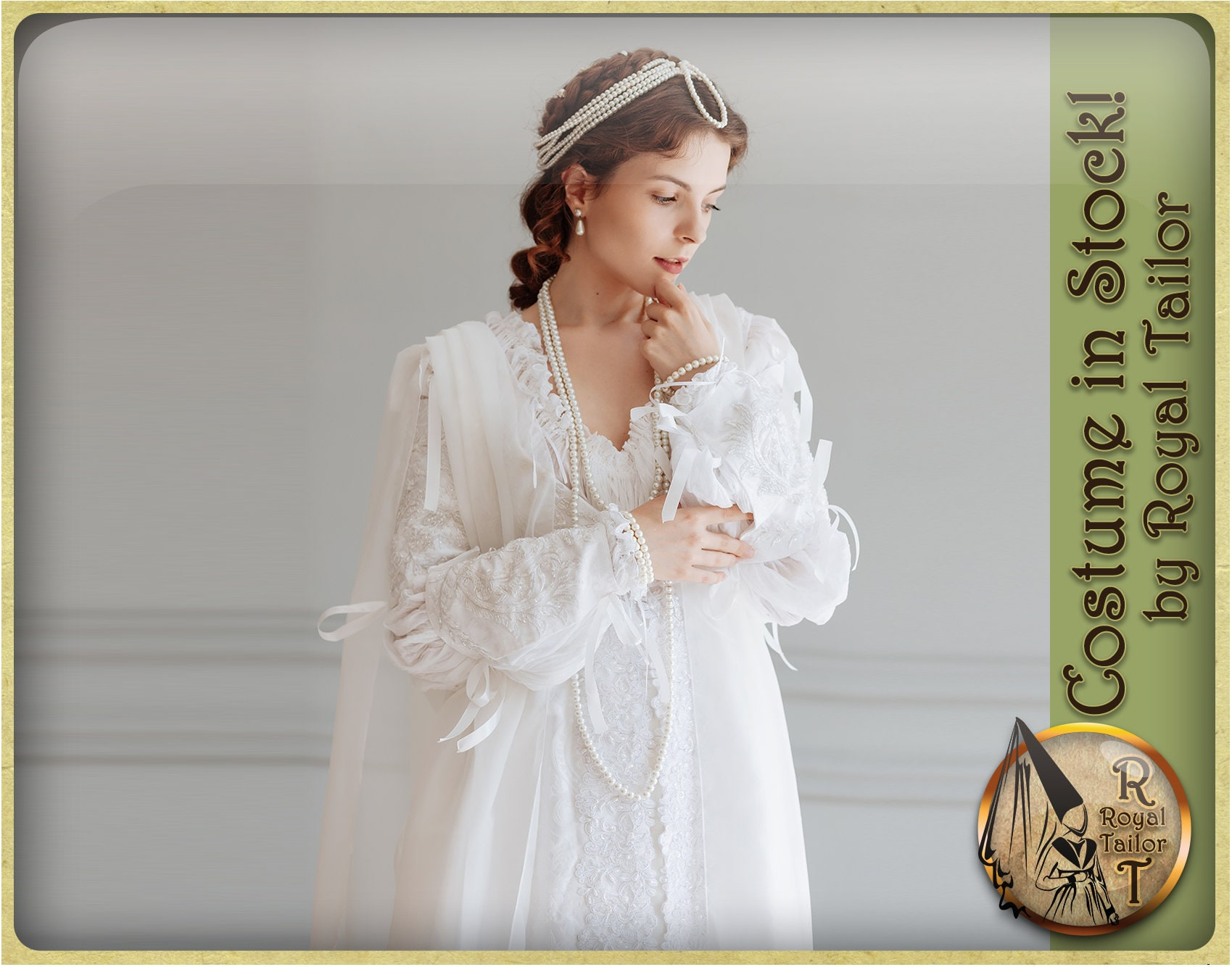 In Stock Renaissance White Wedding Dress Ever After Style Etsy