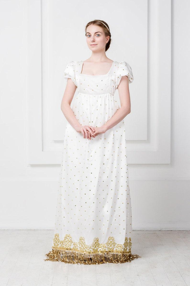 3fdf1029beb Noble dress with court train Manteau de cour Josephine