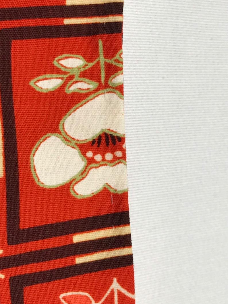 Vintage 80s Japanese Yukata Kimono Womens Cotton Wool Red Extra Long