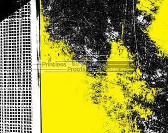 Downloadable Abstract Art Print, Yellow Wall Decor, Digital Art, Instant Download, Home Decor, Yellow Art, Diy Art, Printables, Bedroom Art