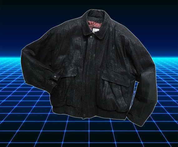 Black Leather - 80s jacket