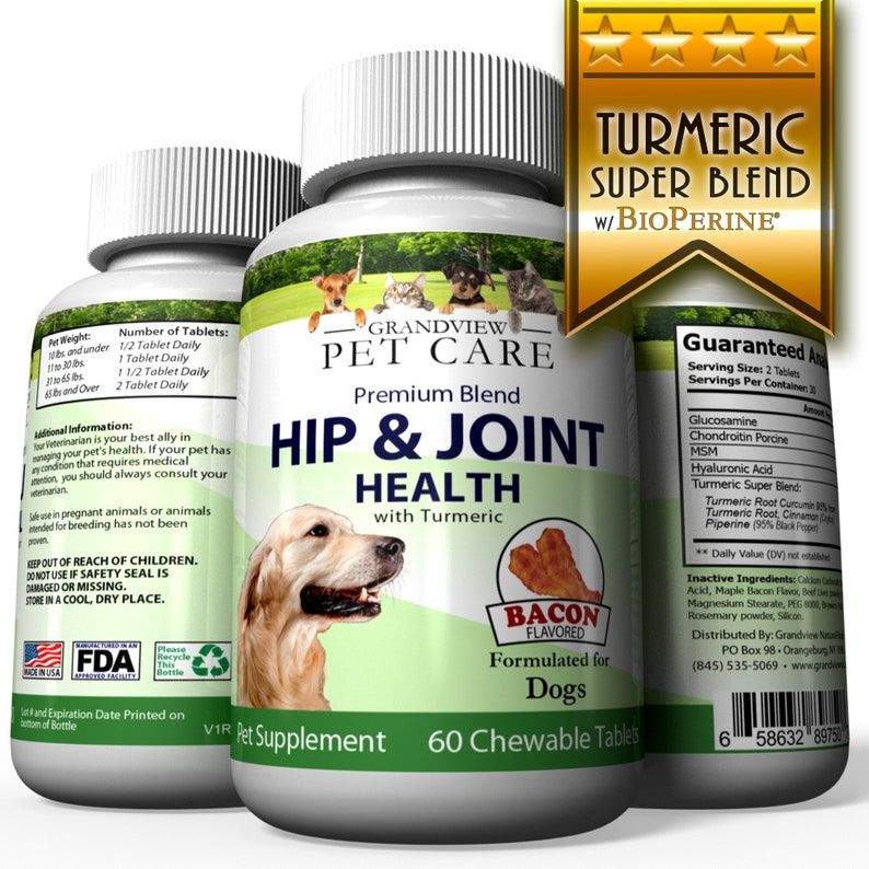 Hip & Joint Formula with Turmeric for Dogs