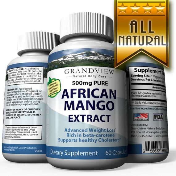 African Mango Pure Suppresses Appetite Increases Metabolism Etsy