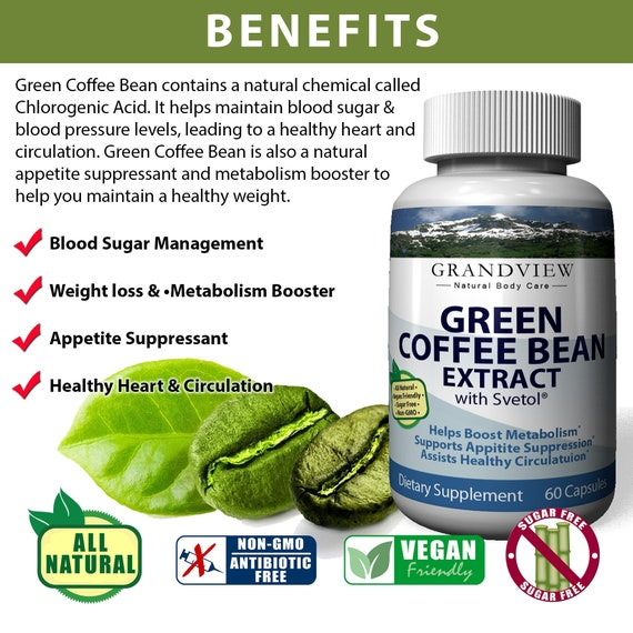 Green Coffee Bean W Svetol 800mg 60 Capsules Etsy