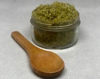 Green Tea & Hemp Sugar Scrub, Sugar Scrub, Exfoliating Scrub, Spa essentials, Moisturizing sugar scrub, Matcha Scrub