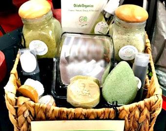 Organic Gift Basket Set Box Vegan Skincare