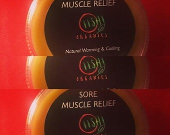 2 oz Sore Muscle Relief, Tiger Balm, Achy Muscle Relief, Joint Pain Relief, Vegan, Father's Day Gift