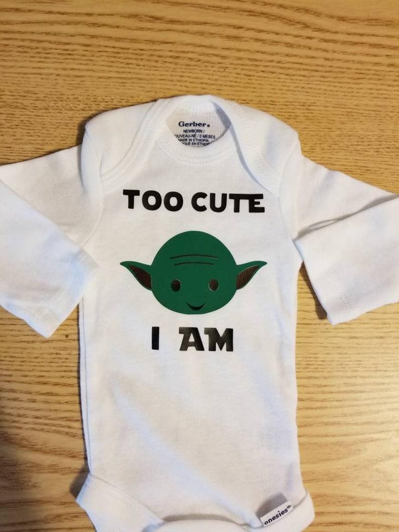 b269c8984 Too Cute I Am Yoda Star Wars onesie | Etsy