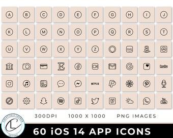 60 Nude iOS 14 App Icons   iOS 14 Icons, Nude Icons, Nude iOS 14 Icons, Aesthetic Icons, Neutral iOS 14 Icons   Instant Download