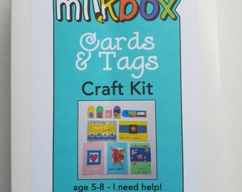 Cards & Tags kit **SALE** - kids craft - make your own greeting cards and gift tags. *seconds*
