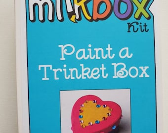 Paint a trinket box - kids craft activity for girls