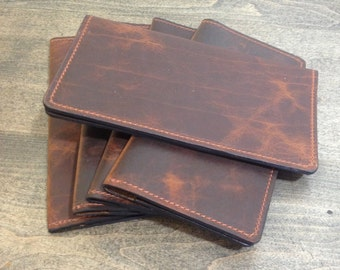 Bison Leather Checkbook Cover Limited Leather