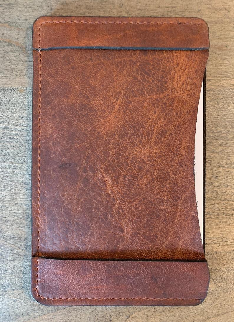 Leather Index Card Holder 3 x 5 image 1